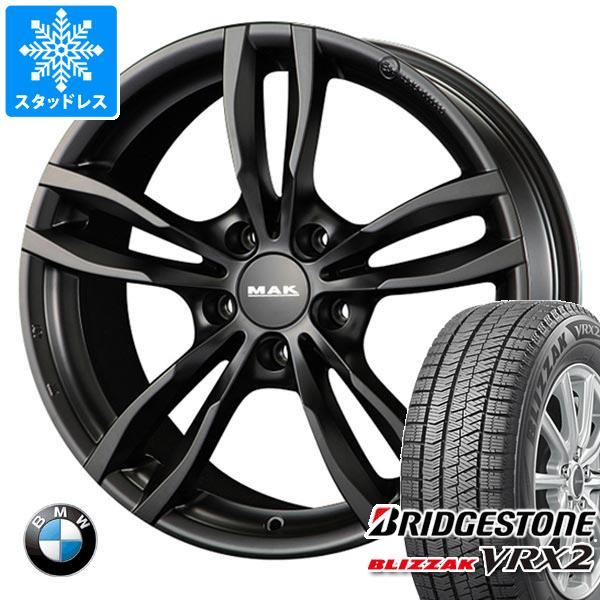 【500円引きクーポン】 BMW E87 1シリーズ用 スタッドレス ブリヂストン ブリザック VRX2 195/55R16 87Q MAK ルフト ブラック タイヤホイール4本セット, キタウラチョウ de40ea7e
