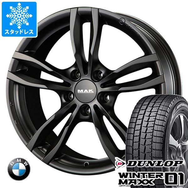 BMW F40 1シリーズ用 スタッドレス ダンロップ ウインターマックス01 WM01 205/55R16 91Q MAK ルフト ブラック タイヤホイール4本セット