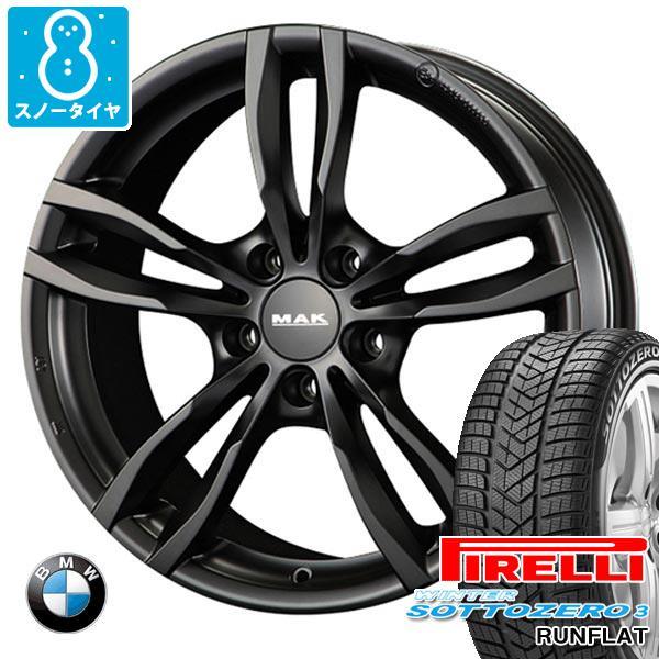 BMW F40 1シリーズ用 スノータイヤ ピレリ ウィンター ソットゼロ3 205/55R16 91H ランフラット ★ BMW承認 MAK ルフト ブラック タイヤホイール4本セット