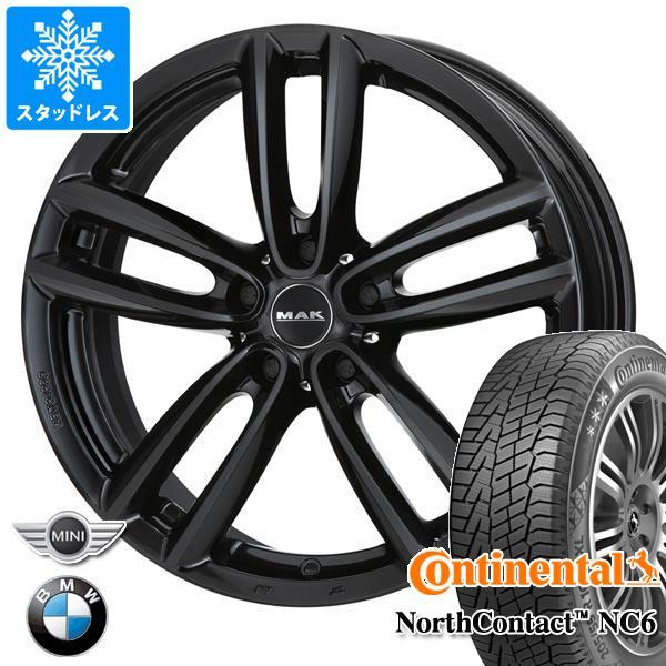 MINI クロスオーバー R60用 スタッドレス コンチネンタル ノースコンタクト NC6 205/60R16 96T XL MAK オクスフォード ブラック タイヤホイール4本セット