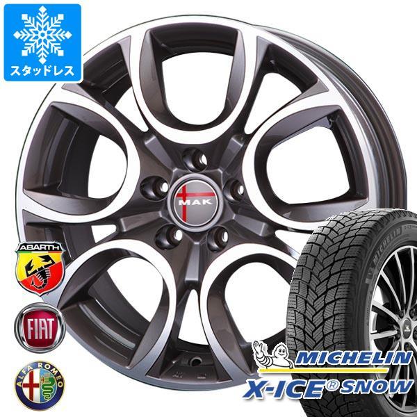 アルファロメオ MiTo用 スタッドレス ミシュラン エックスアイススノー 215/45R17 91H XL MAK トリノ タイヤホイール4本セット