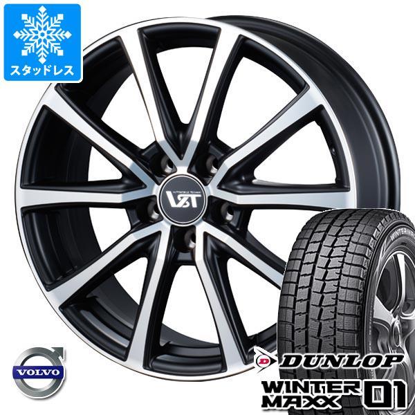 ボルボ S60/V60 ZB系用 スタッドレス ダンロップ ウインターマックス01 WM01 225/50R17 94Q VST タイプST2 タイヤホイール4本セット