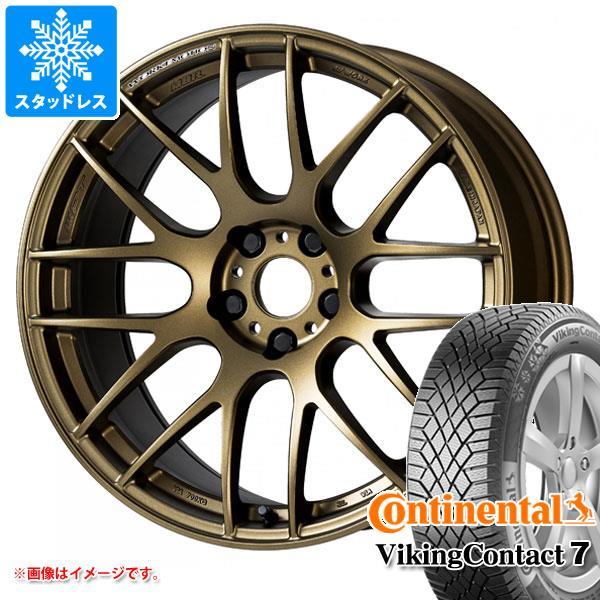 スタッドレスタイヤ コンチネンタル バイキングコンタクト7 245/40R19 98T XL & エモーション M8R 8.5-19 タイヤホイール4本セット 245/40-19 CONTINENTAL VikingContact 7