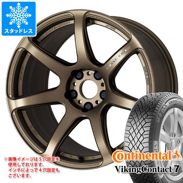 スタッドレスタイヤ コンチネンタル バイキングコンタクト7 245/40R18 97T XL & エモーション T7R 8.5-18 タイヤホイール4本セット 245/40-18 CONTINENTAL VikingContact 7