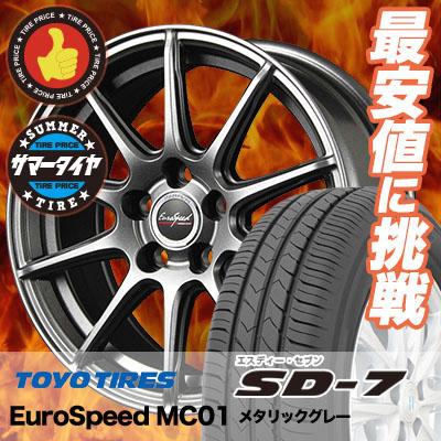 215/45R17 87W TOYO TIRES トーヨー タイヤ SD-7 エスディーセブン EuroSpeed MC01 ユーロスピード MC01 サマータイヤホイール4本セット