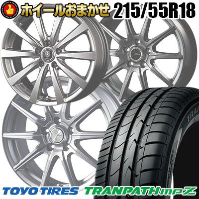 215/55R18 99V TOYO TIRES トーヨー タイヤ TRANPATH mpZ トランパスmpZ  サマータイヤホイール4本セット