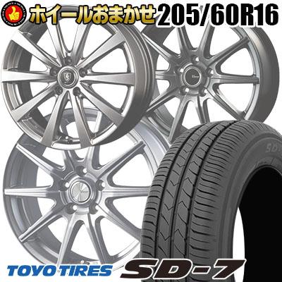 205/60R16 92H TOYO TIRES トーヨー タイヤ SD-7 エスディーセブン  サマータイヤホイール4本セット