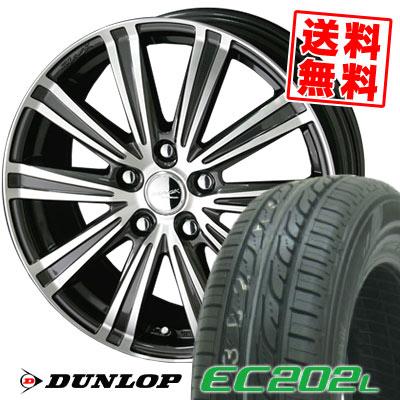 215/60R16 95H DUNLOP ダンロップ EC202L スマックスパロー サマータイヤホイール4本セット【低燃費 エコタイヤ】