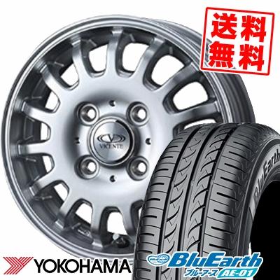 155/65R14 75S YOKOHAMA ヨコハマ BluEarth AE-01 ブルーアース AE01 VICENTE-04EV ヴィセンテ04 EV サマータイヤホイール4本セット
