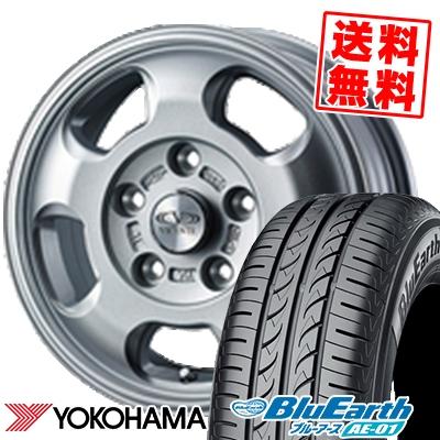 175/70R13 82S YOKOHAMA ヨコハマ BluEarth AE-01 ブルーアース AE01 VICENTE-05 TL ヴィセンテ05 TL サマータイヤホイール4本セット