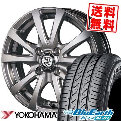 185/55R15 82V YOKOHAMA ヨコハマ BluEarth AE-01 ブルーアース AE01 TRG-BAHN TRG バーン サマータイヤホイール4本セット