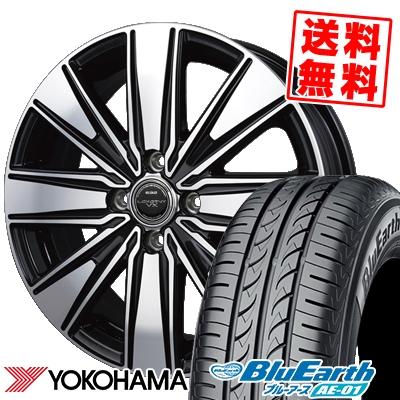 165/60R15 77H YOKOHAMA ヨコハマ BluEarth AE-01 ブルーアース AE01 BADX LOXARNY VX W.VISION DD-8 バドックス ロクサーニ VX ダブルビジョンDD-8 サマータイヤホイール4本セット