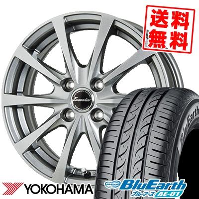 155/70R13 75S YOKOHAMA ヨコハマ BluEarth AE-01 ブルーアース AE01 Exceeder E03 エクシーダー E03 サマータイヤホイール4本セット