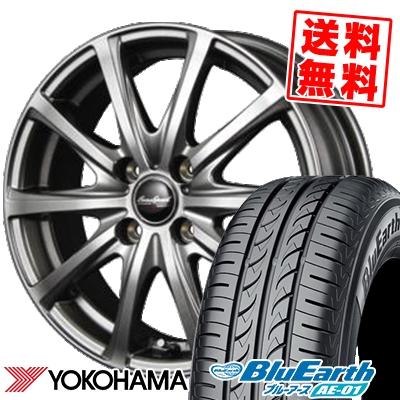 175/60R16 82H YOKOHAMA ヨコハマ BluEarth AE-01 ブルーアース AE01 EuroSpeed V25 ユーロスピード V25 サマータイヤホイール4本セット