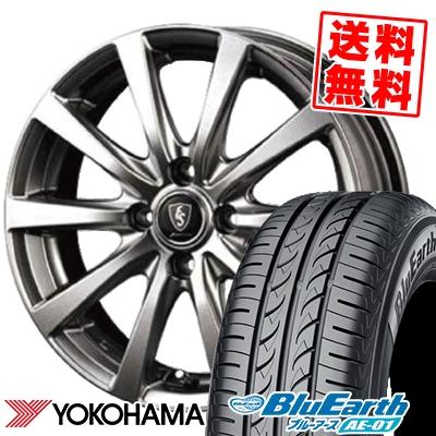 145/80R13 75S YOKOHAMA ヨコハマ BluEarth AE-01 ブルーアース AE01 Euro Speed G10 ユーロスピード G10 サマータイヤホイール4本セット