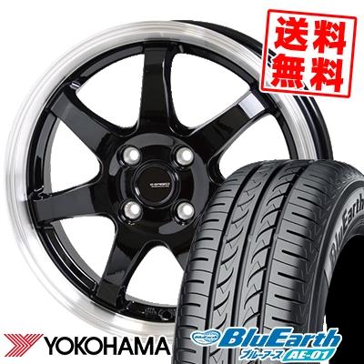 155/55R14 69V YOKOHAMA ヨコハマ BluEarth AE-01 ブルーアース AE01 G.speed P-03 ジースピード P-03 サマータイヤホイール4本セット