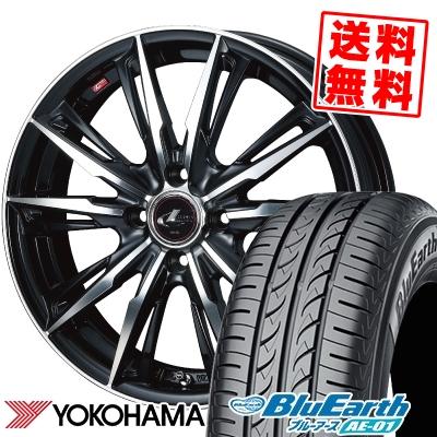 185/55R15 82V YOKOHAMA ヨコハマ BluEarth AE-01 ブルーアース AE01 WEDS LEONIS GX ウェッズ レオニス GX サマータイヤホイール4本セット