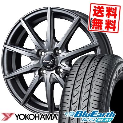 155/55R14 69V YOKOHAMA ヨコハマ BluEarth AE-01 ブルーアース AE01 EuroStream JL10 ユーロストリーム JL10 サマータイヤホイール4本セット