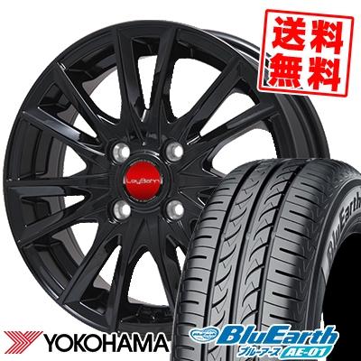 155/65R14 75S YOKOHAMA ヨコハマ BluEarth AE-01 ブルーアース AE01 LeyBahn GBX レイバーン GBX サマータイヤホイール4本セット