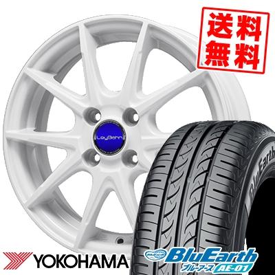 175/60R14 79H YOKOHAMA ヨコハマ BluEarth AE-01 ブルーアース AE01 LeyBahn WGS レイバーン WGS サマータイヤホイール4本セット