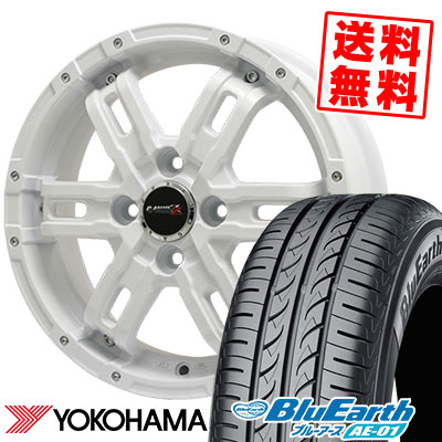 155/65R14 75S YOKOHAMA ヨコハマ BluEarth AE-01 ブルーアース AE01 B-MUD Z Bマッド ゼット サマータイヤホイール4本セット