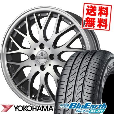 165/60R15 77H YOKOHAMA ヨコハマ BluEarth AE-01 ブルーアース AE01 BADX LOXARNY MULTIFORCHETTA バドックス ロクサーニ マルチフォルケッタ サマータイヤホイール4本セット