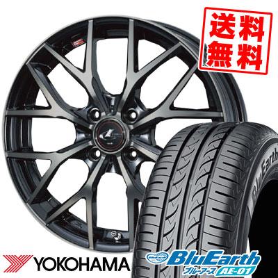 155/65R14 75S YOKOHAMA ヨコハマ BluEarth AE-01 ブルーアース AE01 weds LEONIS MX ウェッズ レオニス MX サマータイヤホイール4本セット【取付対象】