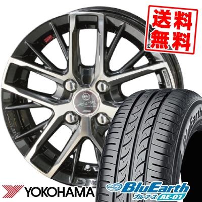 165/55R14 72V YOKOHAMA ヨコハマ BluEarth AE-01 ブルーアース AE01 SMACK REVILA スマック レヴィラ サマータイヤホイール4本セット【取付対象】