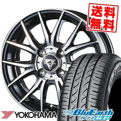 145/80R13 75S YOKOHAMA ヨコハマ BluEarth AE-01 ブルーアース AE01 Razee M-7 レイジー M7 サマータイヤホイール4本セット