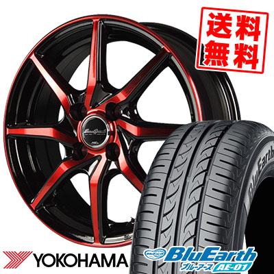 185/55R15 82V YOKOHAMA ヨコハマ BluEarth AE-01 ブルーアース AE01 EuroSpeed S810 ユーロスピード S810 サマータイヤホイール4本セット