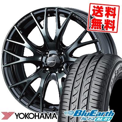 165/60R15 77H YOKOHAMA ヨコハマ BluEarth AE-01 ブルーアース AE01 WedsSport SA-20R ウェッズスポーツ SA20R サマータイヤホイール4本セット