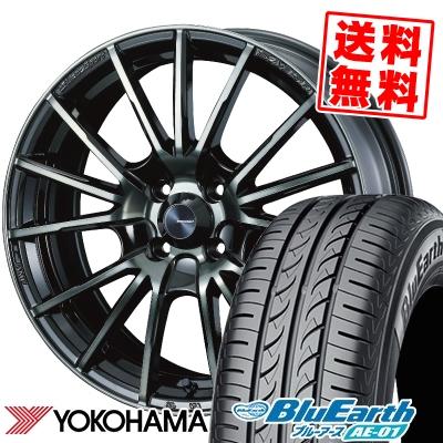 185/55R15 82V YOKOHAMA ヨコハマ BluEarth AE-01 ブルーアース AE01 WedsSport SA-35R ウェッズスポーツ SA-35R サマータイヤホイール4本セット