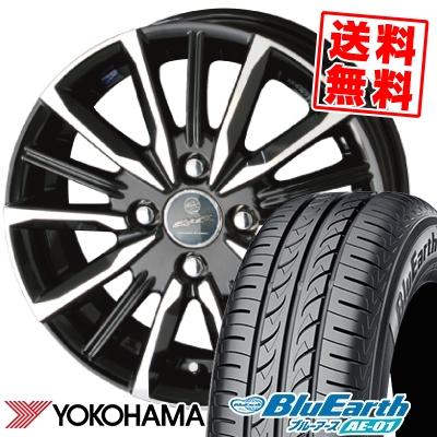 165/55R14 72V YOKOHAMA ヨコハマ BluEarth AE-01 ブルーアース AE01 SMACK VALKYRIE スマック ヴァルキリー サマータイヤホイール4本セット