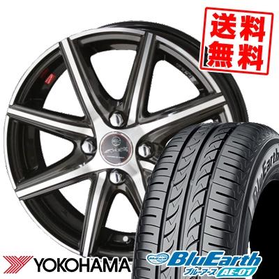 145/80R13 75S YOKOHAMA ヨコハマ BluEarth AE-01 ブルーアース AE01 SMACK PRIME SERIES VANISH スマック プライムシリーズ ヴァニッシュ サマータイヤホイール4本セット