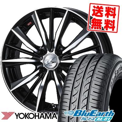 165/55R14 72V YOKOHAMA ヨコハマ BluEarth AE-01 ブルーアース AE01 weds LEONIS VX ウエッズ レオニス VX サマータイヤホイール4本セット