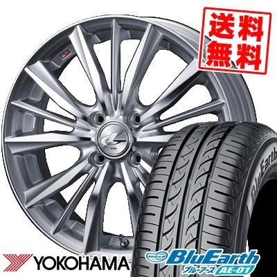155/55R14 69V YOKOHAMA ヨコハマ BluEarth AE-01 ブルーアース AE01 weds LEONIS VX ウエッズ レオニス VX サマータイヤホイール4本セット