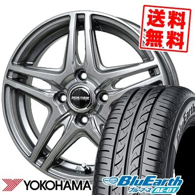175/60R14 79H YOKOHAMA ヨコハマ BluEarth AE-01 ブルーアース AE01 WAREN W04 ヴァーレン W04 サマータイヤホイール4本セット