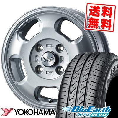 175/65R14 82S YOKOHAMA ヨコハマ BluEarth AE-01F ブルーアース AE01F VICENTE-05 NV ヴィセンテ05 NV サマータイヤホイール4本セット【取付対象】