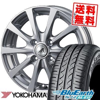 175/65R14 82S YOKOHAMA ヨコハマ BluEarth AE-01F ブルーアース AE01F AZ SPORTS EX10 AZスポーツ EX10 サマータイヤホイール4本セット