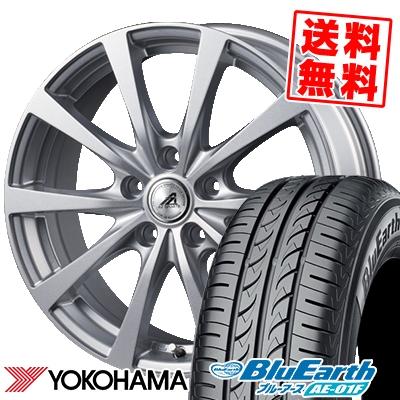 215/60R16 95H YOKOHAMA ヨコハマ BluEarth AE-01F ブルーアース AE01F AZ SPORTS EX10 AZスポーツ EX10 サマータイヤホイール4本セット【取付対象】
