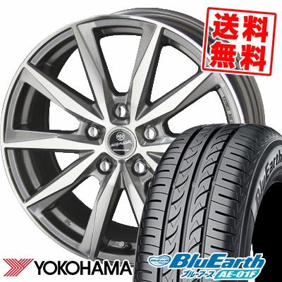 195/65R15 91H YOKOHAMA ヨコハマ BluEarth AE-01F ブルーアース AE01F SMACK BASALT スマック バサルト サマータイヤホイール4本セット