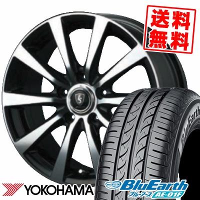 205/65R15 94H YOKOHAMA ヨコハマ BluEarth AE-01F ブルーアース AE01F EuroSpeed BL10 ユーロスピード BL10 サマータイヤホイール4本セット