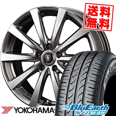 215/60R16 95H YOKOHAMA ヨコハマ BluEarth AE-01F ブルーアース AE01F Euro Speed G10 ユーロスピード G10 サマータイヤホイール4本セット