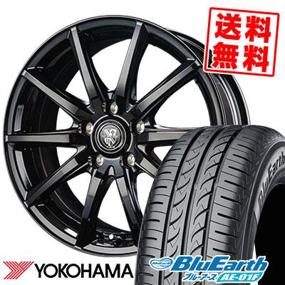 195/60R15 88H YOKOHAMA ヨコハマ BluEarth AE-01F ブルーアース AE01F TRG-GB10 TRG GB10 サマータイヤホイール4本セット