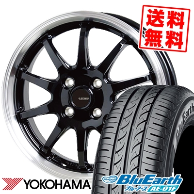 185/55R16 83V YOKOHAMA ヨコハマ BluEarth AE-01F ブルーアース AE01F G.speed P-04 ジースピード P-04 サマータイヤホイール4本セット【取付対象】