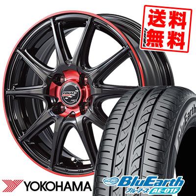185/70R14 88S YOKOHAMA ヨコハマ BluEarth AE-01F ブルーアース AE01F FINALSPEED GR-Volt ファイナルスピード GRボルト サマータイヤホイール4本セット