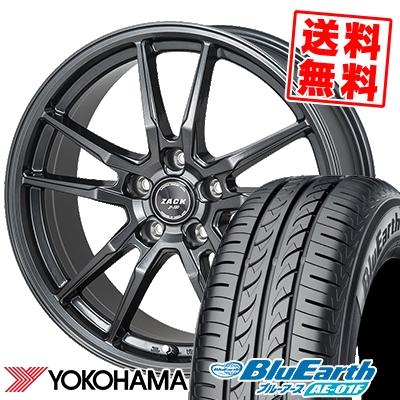 195/65R15 91H YOKOHAMA ヨコハマ BluEarth AE-01F ブルーアース AE01F ZACK JP-520 ザック ジェイピー520 サマータイヤホイール4本セット