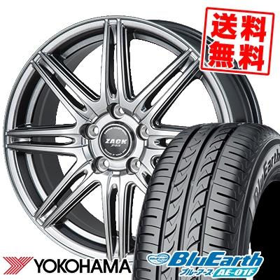 195/60R16 89H YOKOHAMA ヨコハマ BluEarth AE-01F ブルーアース AE01F ZACK JP-818 ザック ジェイピー818 サマータイヤホイール4本セット