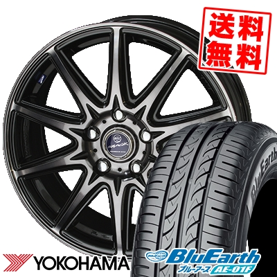 205/65R15 94H YOKOHAMA ヨコハマ BluEarth AE-01F ブルーアース AE01F SMACK LAVINE スマック ラヴィーネ サマータイヤホイール4本セット