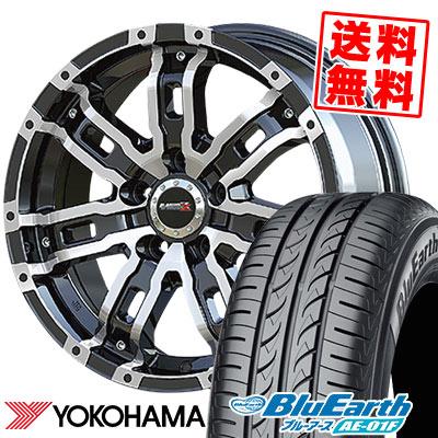 205/65R16 95H YOKOHAMA ヨコハマ BluEarth AE-01F ブルーアース AE01F B-MUD Z Bマッド ゼット サマータイヤホイール4本セット